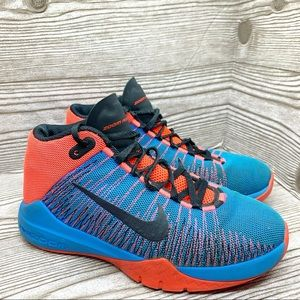 Nike Zoom Ascention, Blue/Orange athletic sneaker